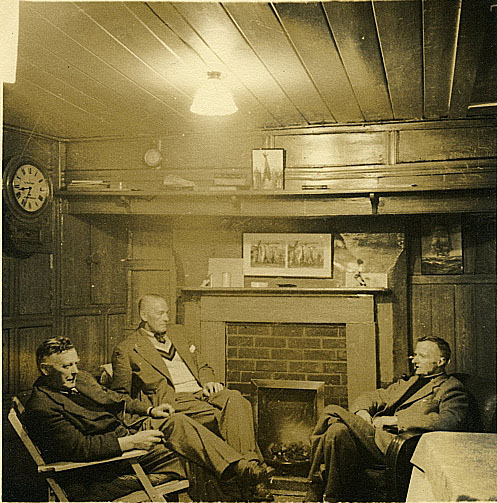 Inside The Scarborough Tunny Club. Fred Taylor On The Right